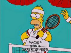 homer simpson season 12 tennis episode 12 amateur 12x12 tennis stick via diggita.it #tennis