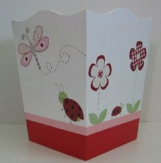 Ladybug Trash Can M2M Kidsline Nursery Bedding Room Decor Flowers Art