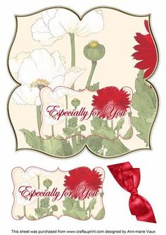 White Poppy Especially 8in Large Blooms Fancy Topper on Craftsuprint - Add To Basket!