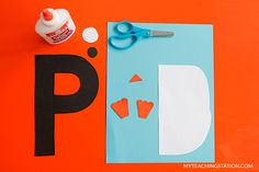 Letter P Craft Materials for Making an Penguin