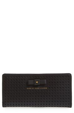 MARC BY MARC JACOBS 'Sophisticato - Bow Tomoko' Leather Wallet