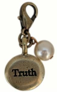 Charm with Word Truth and Pearl.  Add this to any of the Classic Legacy necklaces or bracelets.   www.classiclegacy.com