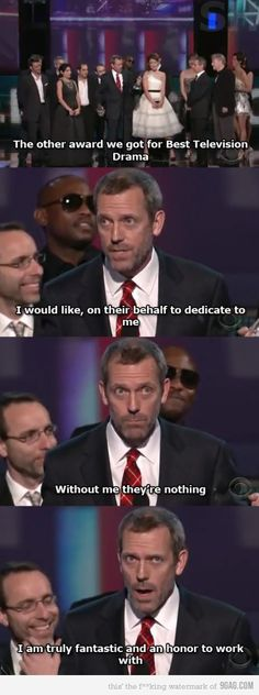 I love Hugh Laurie...almost as much as I love Dr. House :-)