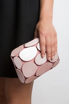 b43853a31e8d 3D printed clutch designed by Odo Fioravanti Unique Bags, Evening Bags, 3d  Fashion,