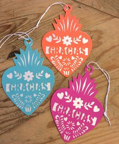 Mexican Fiesta Gracias Gift Tags Thank You Tags by lulaflora (Put these on the welcome bags!)