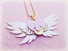 SAILOR MOON Eternal Sailor Moon Brooch Necklace by ShoujoShop