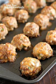 Best Ever (Easy) Baked Meatballs - Yummy Healthy Easy