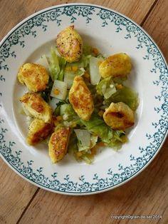 Arme Leute Essen: Quarknocken mit bayrischem Kraut