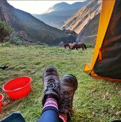Camping along the Quarry Trail in Peru - not a bad view!