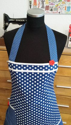 """Schürzen - """"Große Mädchen in blau""""- Schürze/ Kochschürze - ein Designerstück von XBergDesign bei DaWanda"""