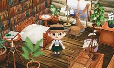 (notitle) - ·Animal Crossing New Leaf: Towns/Rooms· - Animal Crossing Qr, Animal Crossing Pocket Camp, Motif Acnl, Ac New Leaf, Happy Home Designer, City Folk, Kawaii, Animal Games, Cool Pictures