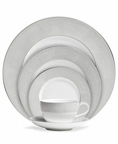 Monique Lhuillier Waterford Dinnerware, Stardust Collection - Fine China - Dining & Entertaining - Macy's $130 would like to see in person, not sure