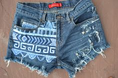 DIY Tribal Print Shorts