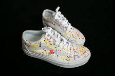 Hand painted sneakers Vans Painted Sneakers, Vans Sneakers, Hand Painted, Shirts, Fashion, Moda, Fashion Styles, Painted Converse, Dress Shirts