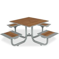Beacon Hill Bamboo Table With 4 Flat Seats | Picnic Tables | Upbeat.com