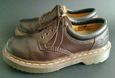 DR DOC MARTENS BROWN LEATHER OXFORD SHOES SIZE UK3 US4 USW5  #DrMartens #CasualShoes