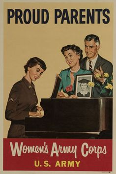 Recruiting poster for the Women's Army Corps (WAC) used during the mid-fifties.