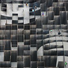 Labyrinth steel maze by Gijs Van Vaerenbergh