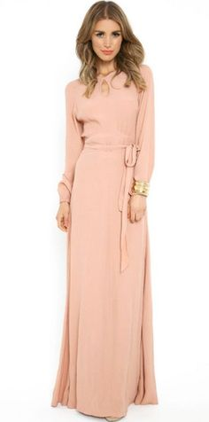 Peachy Keen Dress  Maxi from Mode-sty