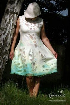 Letnia sukienka z wełny merynos 18μ oraz jedwabiu - kurs