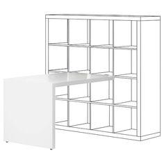Ikea Kallax Schreibtisch linnmon hardware office spaces and attic office