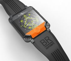 BR Smartwatch • Concept smartwatch by Jim Tirone. Inspired by Bell & Ross watches.