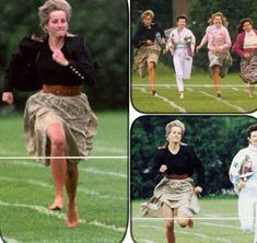 الأميرة ديانا  عند زيارتها لمدرسة هاري 1991 علمت أن هناك سباق سيُجرى بين الأمهات فتخلت عن برستيجها وشاركت حَافية القدمين