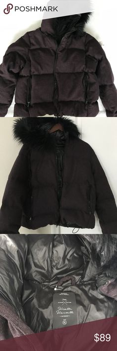 NWOT Gap hoodie puffer jacket! Super comfortable. NWOT Gap hoodie puffer jacket! Super comfortable. Great look for this upcoming fall/winter.  Plum color. Filled with down feathers!! GAP Jackets & Coats Puffers