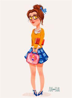 Princesas Disney com roupas modernas   Just Lia