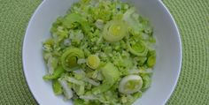 Broccoli Rice with Leeks - Newport Beach Cleanse