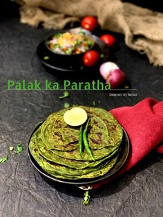 Palak ka Paratha is an Indian flatbread made with the superfood spinach and whole wheat flour. The paratha is nutritious as well as delicious. Palak Paratha, Indian Breads, Healthy School Snacks, Ginger Juice, Flatbread Recipes, Chapati, Whole Wheat Flour, Recipe Notes, Superfood
