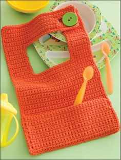 baby bib to crochet...I like the not so ordinary style $5.34