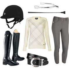 A fashion look from August 2013 featuring leather shoes, stretch belt and crew tee. Browse and shop related looks. Horse Riding Clothes, Riding Gear, Equestrian Outfits, Equestrian Style, Equestrian Fashion, Horseback Riding Outfits, Neutral, Horse Fashion, Horse Accessories