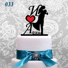 Personalizzato wedding cake topper, acrilico cake topper russo cake topper decorazioni della torta(China (Mainland))