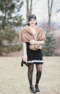 |FashionEdible| Reliving the 1920s, The Great Gatsby, Vintage fashion, fur, 1920s fashion, vintage