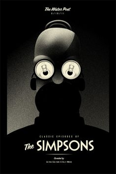 Featured Artist – Olly Moss illustrator The Simpsons Movie Poster