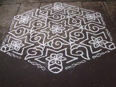 Rangoli designs/Kolam: S.