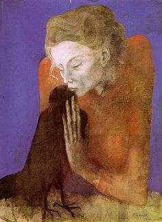 Woman with a Raven, 1904, Pablo Picasso