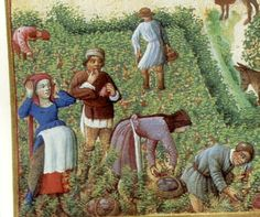 Les Tres Riches Heures du Jean, Duc de Berry, 15c.  (Detail from the month of September)