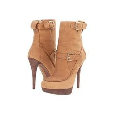 High Heels Brown Leather Boots