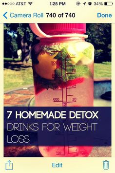 Seven Detox Drinks For Weight Loss