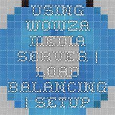 Using Wowza Media Server   Load Balancing   Setup