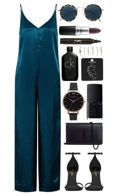 Untitled #1004 by clary94 on Polyvore featuring Golden Goose, Yves Saint Laurent, Olivia Burton, Topshop, Aéropostale, Eyevan 7285, MAC Cosmetics, Calvin Klein and NARS Cosmetics