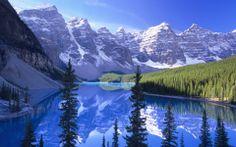 Free Microsoft Screensavers Winter Scene | ... Blue, lakes, landscape, mountains, nature, river, snow, stream, winter
