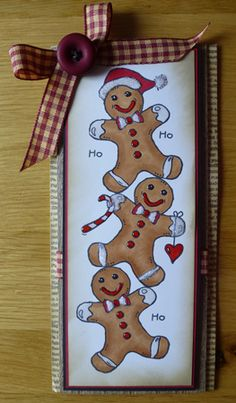 Christmas cards using a combination Woodware stamps designed by Francoise Read, card made by me.