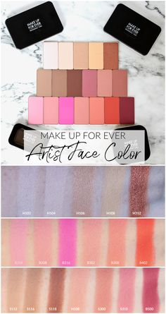 MAKE UP FOR EVER Artist Face Color Highlight, Sculpt, and Blush Powder Review & Swatches • Realizing Beauty