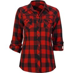 FULL TILT Buffalo Plaid Womens Flannel Top ($25) ❤ liked on Polyvore featuring tops, blouses, shirts, red, women, print shirts, long sleeve flannel shirts, buffalo plaid shirt, buffalo check shirts and long-sleeve shirt