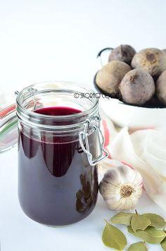 Sour pickled beet juice for borscht