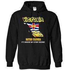 Victoria, British Columbia - #handmade gift #monogrammed gift. LIMITED TIME => https://www.sunfrog.com/LifeStyle/Victoria-British-Columbia-wrqgm-Black-5105972-Hoodie.html?68278
