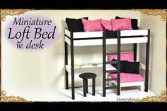 Miniature Loft Bed Tutorial